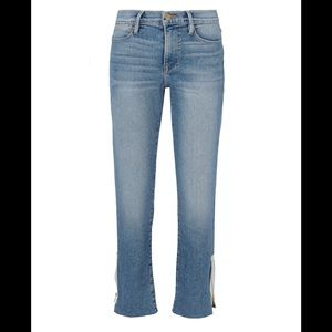 Frame Le High Straight zip jeans size 29